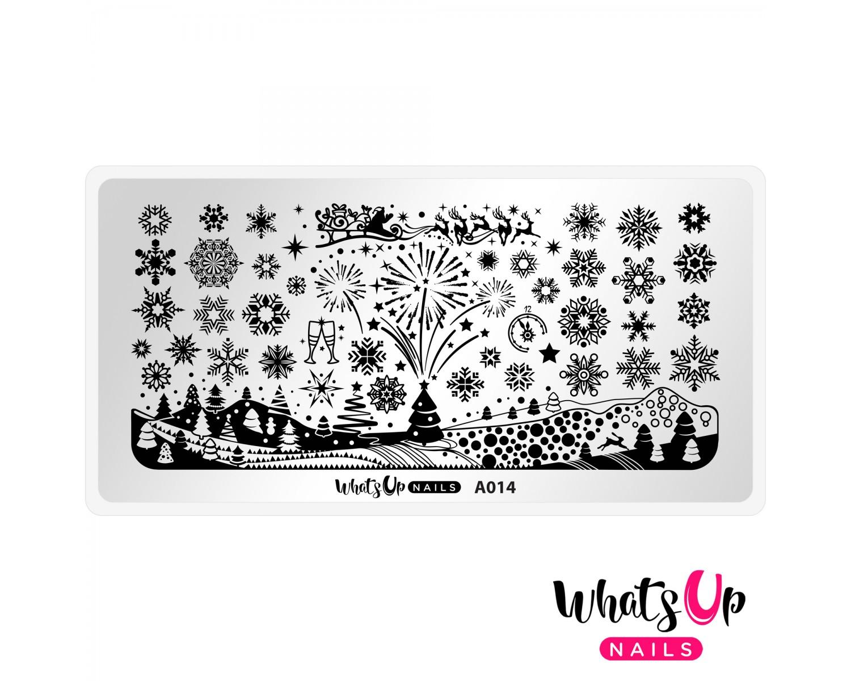 Пластина для стемпинга Whats Up Nails - A014 Holiday Snowfall
